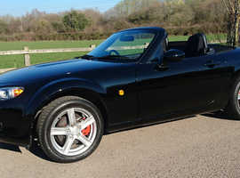Mazda MX-5, 2006 (06) Black Convertible, Manual Petrol, 46688 miles