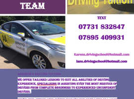 Automatic and Manual Ford Fiesta cars available. Husband and wife driving instructor team