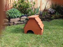 Handmade Wooden Hedgehog House