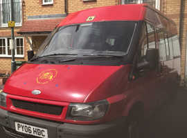 Red ford transit