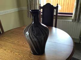 Glass large vase
