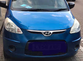 Hyundai i10, 2008 (58) Blue Hatchback, Manual Petrol, 53,000 miles