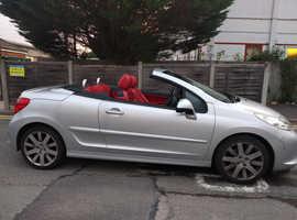 Peugeot 207, 2007 (57) Grey Convertible, Manual Petrol, 72,000 miles