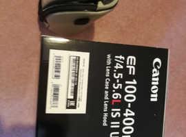 Canon EF L series zoom lens, 100-400 F 4.5-5.6 mm. Mk2