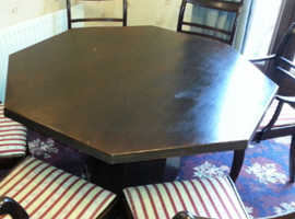 Octagon dinning table