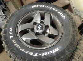 "HILUX / MITSUBISHI / ISUZU/ ECT 16"" ALLOYS WITH NEW TYRES  SET OF 4."