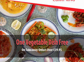 One Vegetable Dish Free On Takeaway Orders Over £20 | Curry King