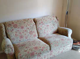 Free to good home , settee with matching chair .