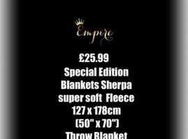 Sherpa super soft blankets