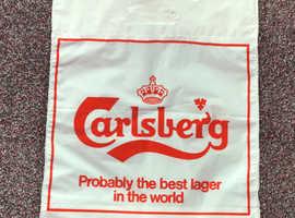 Rare, unused, vintage, Carlsberg carrier bag. 1970's.