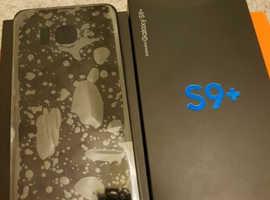Samsung galaxy s9 plus black 128gb unlooked  condition new