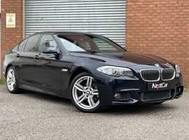 BMW 5 Series 2.0 520d M Sport Auto Stunning Colour Combo of Metallic Carbon Black & Oyster Cream Leather