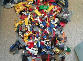 Almost full bag of Lego building blocks