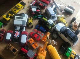45 Toy cars, engines, tractors, buses, lorries etc
