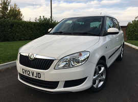 Skoda Fabia, 1.2 TSI SE Plus (105) 2012 (12) Candy White Hatchback, Manual Petrol, 15,600 miles