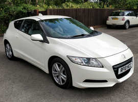 Honda CR-Z, 2010 (10) white hatchback, Manual Hybrid, 73000 miles