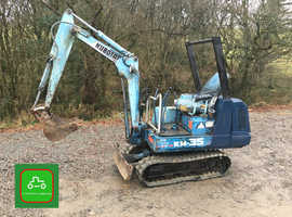 KUBOTA KH35 1.5 TON MINI DIGGER ALL WORKS TRAILER AVAILABLE SEE VIDEO CAN DELIVER + VAT