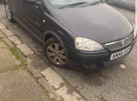 Vauxhall Corsa, 2006 (56) Black Hatchback, Manual Petrol, 87,000 miles