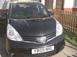 Nissan Note, 2010 (59) Black MPV, Manual Diesel, 110,120 miles
