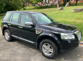 Land Rover Freelander, 2007 (07) Black Estate, Manual Diesel, 124,515 miles