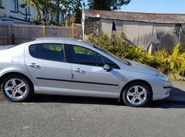 Peugeot 407, 2006 (06) Silver Saloon, Automatic Diesel, 105,000 miles