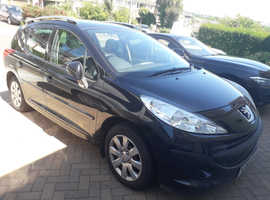 Peugeot 207, 2008 (58) Black Estate, Manual Diesel, 89,066 miles