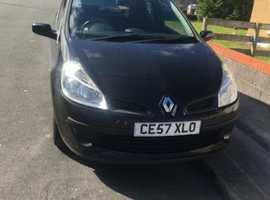 Renault CLIO 1.2, 2007 (57) Black Hatchback, Manual Petrol, 123,000 miles