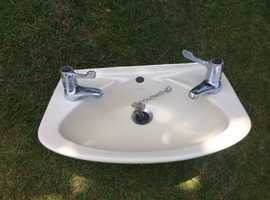 Armitage Shanks wash hand basin and 2 sets taps