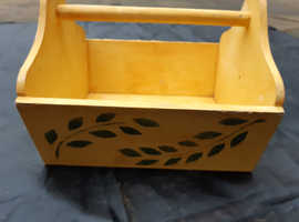 Handy Decorated Wooden Carry Box