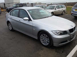 BMW 3 Series, 2007 (07) Silver Saloon, Manual Diesel, 146,000 miles