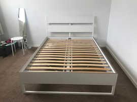 IKEA king size mattress and frame