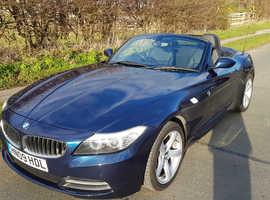 BMW Z4 23i Metallic Blue 09, FSH, MOT Till Nov 2019, HEATED SEATS, BLACK LEATHER, LOW MILEAGE