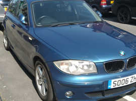 BMW 1 series, 2006 (06) Blue Manual Petrol, 94,500 miles