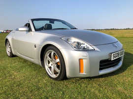 Nissan 350 Z, 2008 (08) Grey Convertible, Manual Petrol, 63,453 miles new black mohair hood