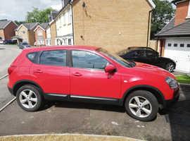 Nissan Qashqai, 2009 (59) Red Hatchback, Manual Diesel, 100,000 miles