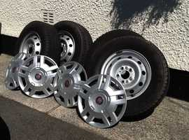 Motorhome wheels tyres and trims for sale.
