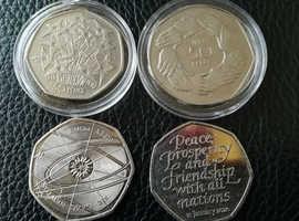 Rare 50p Coins X 4