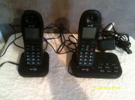BT Master & Slave  Black Home Telephone System