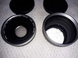 brand new / never used two video cam lenses ,,,,