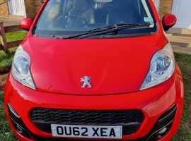 Peugeot 107, 2012 (62) Red Hatchback, Manual Petrol, 45,466 miles