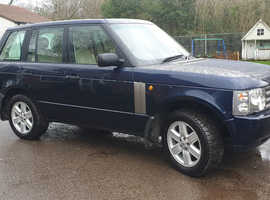 Land Rover Range Rover, 2002 (02) Blue Estate, Automatic Diesel, 152,000 miles