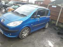 Peugeot 1007, 2007 (07) Blue Hatchback, Manual Petrol, 89,000 miles