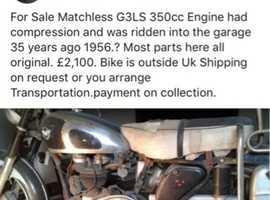 Matchless 1954 350cc 553GLS