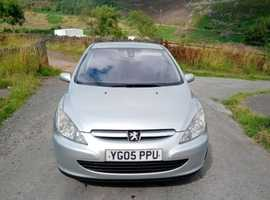 Peugeot 307, 2005 (05) Silver Hatchback, Manual Petrol, 138,000 miles