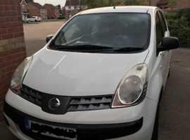 Nissan Note, 2007 (07) White MPV, Manual Petrol, 72,000 miles