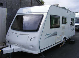 2008 Elddis Xplore 495 caravan, 5 berth, possible 'fixed' bed, awning & free extras