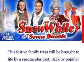 Christmas pantomime. Snow White 7 Dwarfs