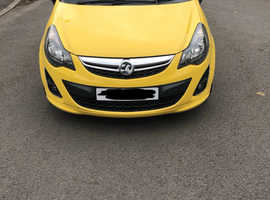 Vauxhall Corsa, 2013 (13) Yellow Hatchback, Manual Petrol, 62,000 miles