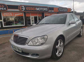 Mercedes S Class, 2005 (55) Silver Saloon, Automatic Diesel, 8,000 miles