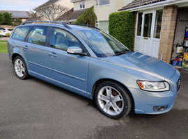 Volvo V50, 2009 (09) Blue Estate, Manual Diesel, 95,000 miles